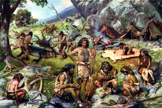 Encampment of late Paleolithic hunters