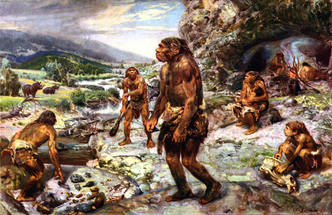The neanderthal encampment