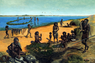 Lake Mungo people, early human inhabitants of Australia : between 40 000 and 68 000 years ago