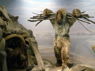 Mezhyrich. An early modern human and his mammoth bone dwelling